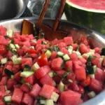 Watermelon, Cucumber & Basil Salad