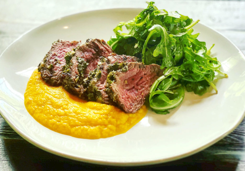 FILET WITH CARROT PUREE